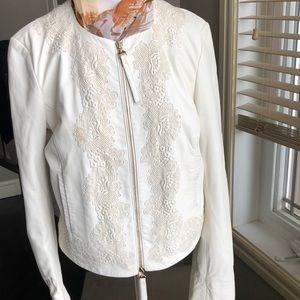Blumarine Pelle Di Ovino sheepskin/lace jacket
